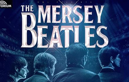Poster for the Mersey Beatles featuring the four members of the band.