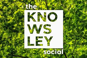 The Knowsley Social logo infront of a green background