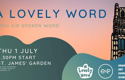 A lovely Word open air spoken word poster.