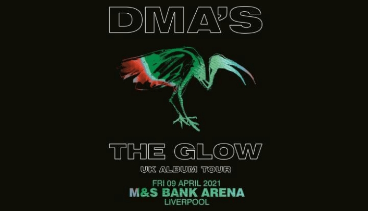 DMA's poster for their tour The Glow featuring a bird