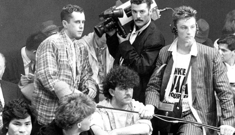 Black and White photo of Frankie Goes to Hollywood.