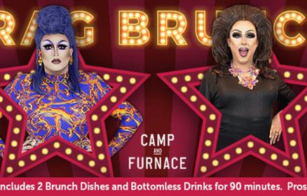 Drag brunch poster with Lawrence Chaney and Shania Pain