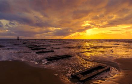 Sunset from Crosby Beach