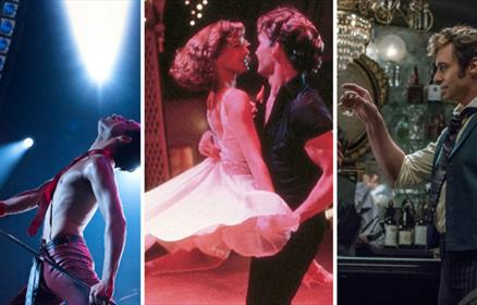 The films the Greatest Showman, Dirty Dancing and Bohemian Rhapsody