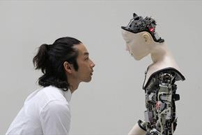 A Robot and a human