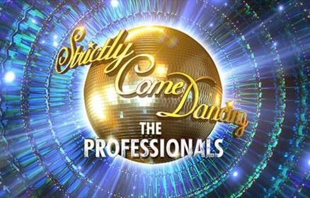 Strictly Come Dancing: The professionals with a gold glitter ball.