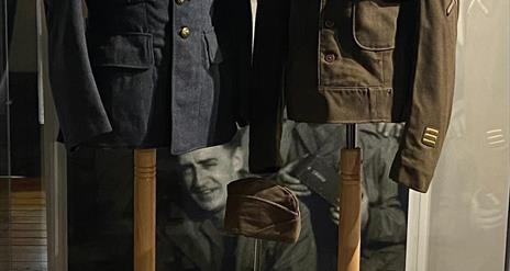 World War Two uniforms on display