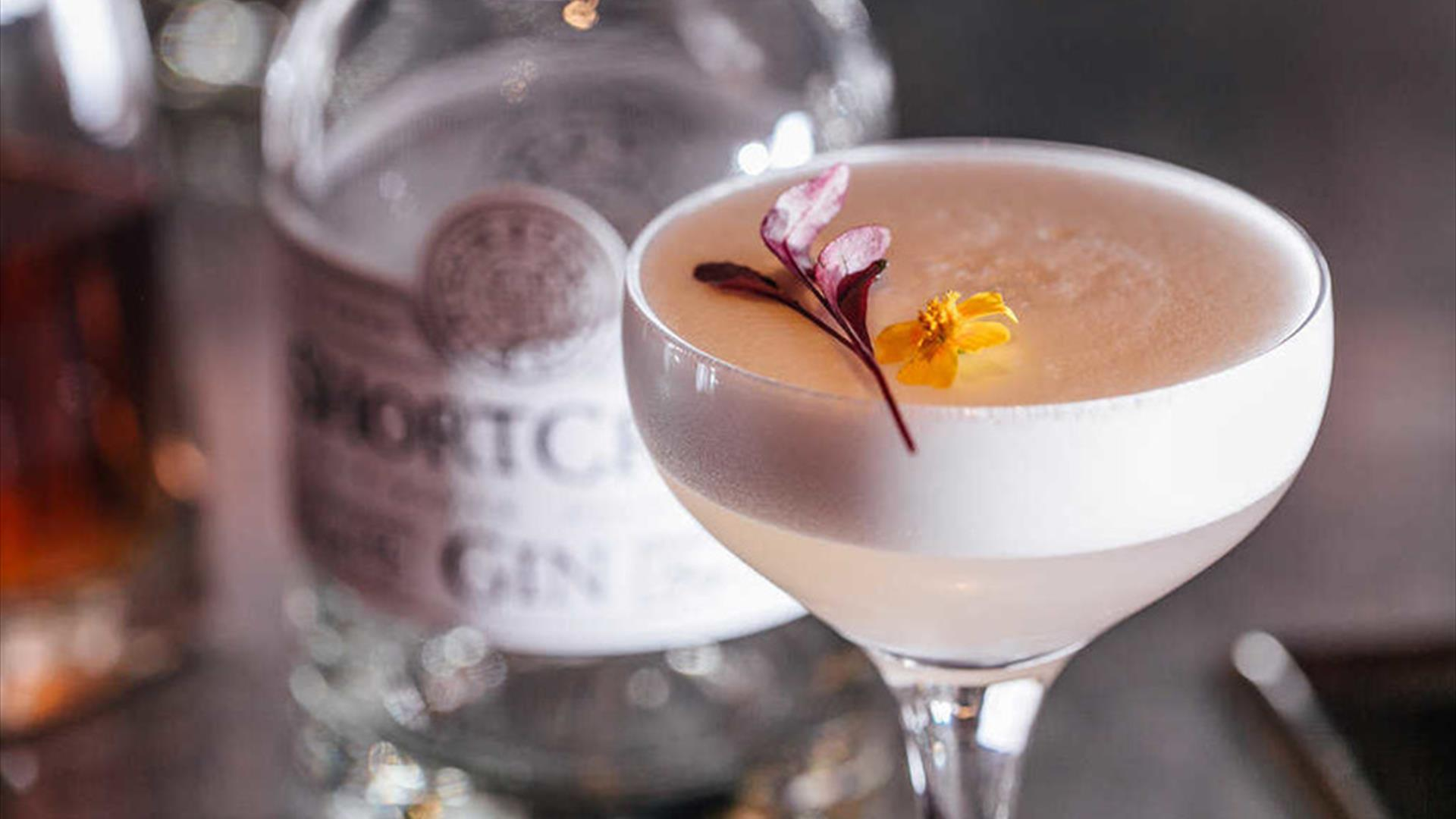 Image of white lady cocktail preppared by Shortcross Gin, Rademon Distillery.