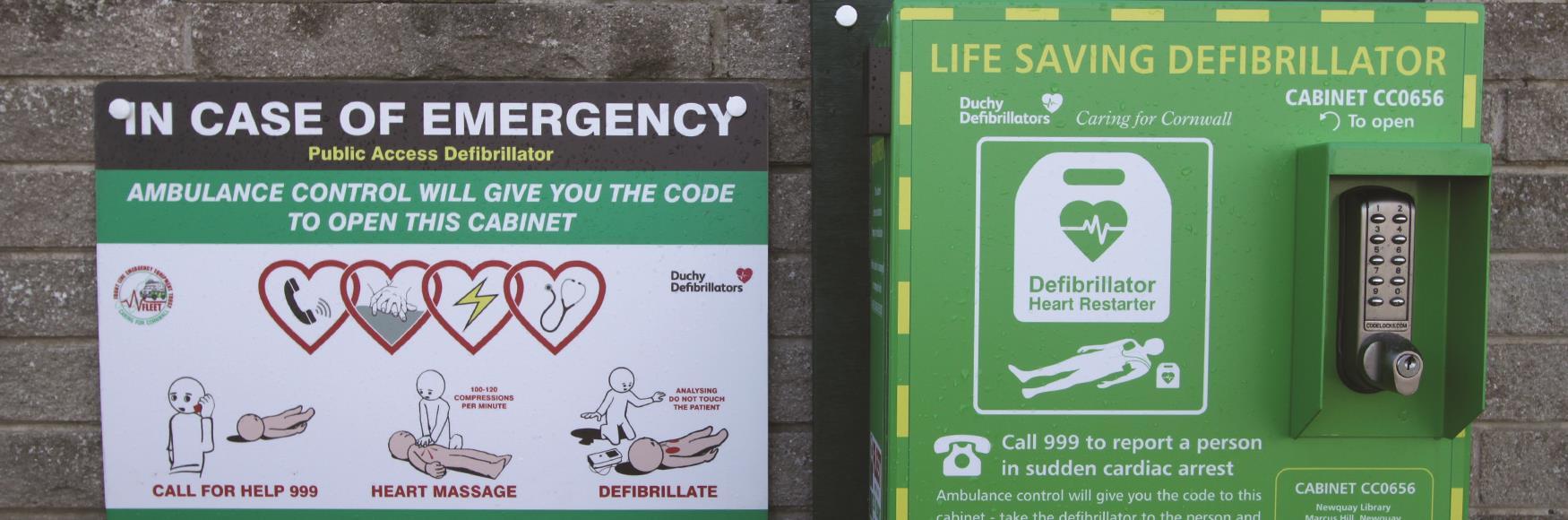 Newquay Library Defibrillator