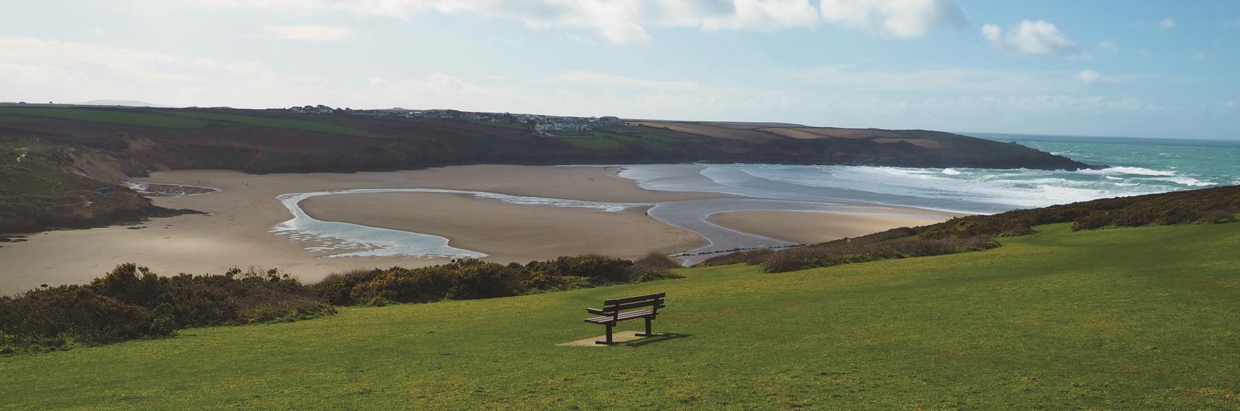 View Over Crantock Beach