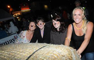 The BIG Crantock Bale Push - One of Cornwall's Craziest Fund-Raising Events!