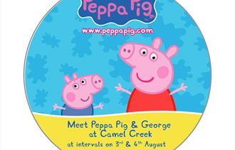Meet Peppa Pig & George at Camel Creek Adventure Park