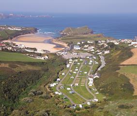 Porth Beach Tourist Park, Porth, Newquay, Cornwall