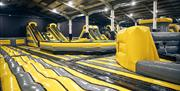 Image is of the large inflatable play area