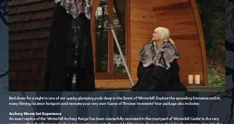 Game of Thrones® Tour – Glamping Mini Breaks at Winterfell Castle
