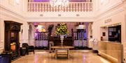 View of the foyer of the Slieve Donard Resort & Spa, Newcastle