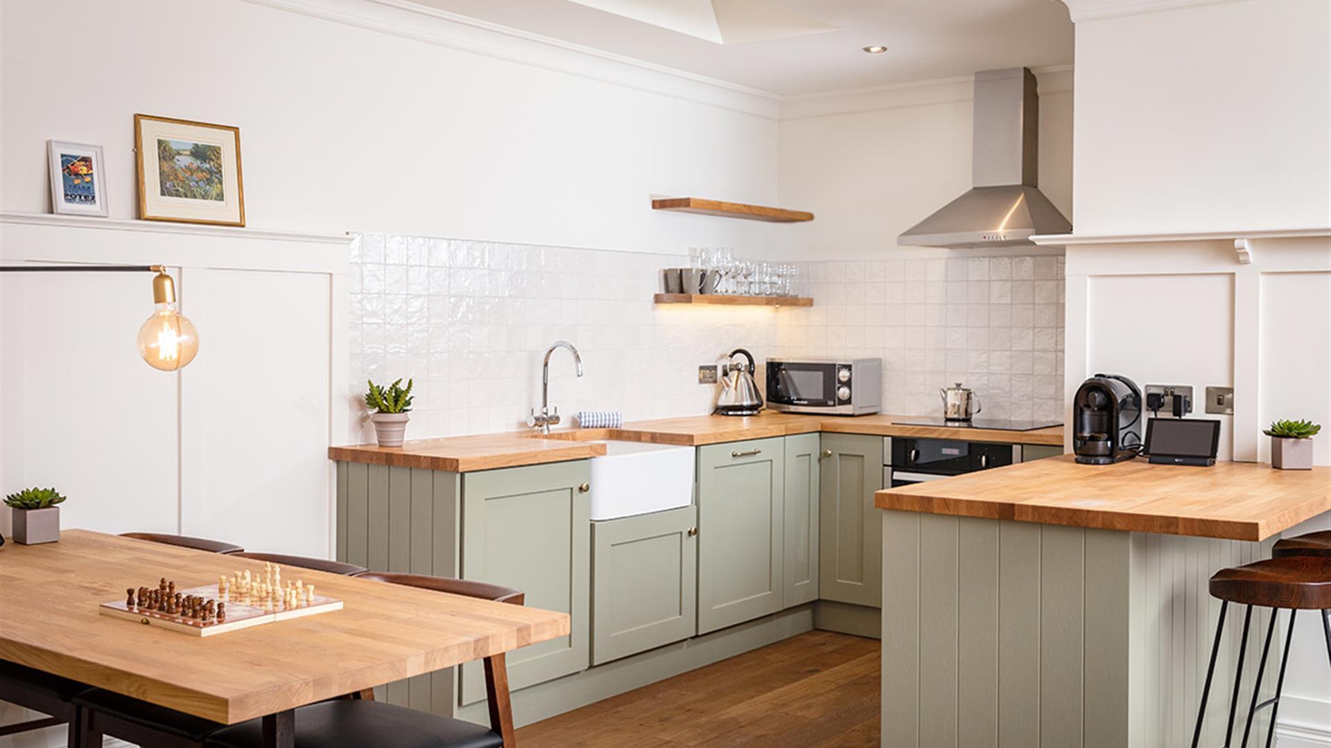 Cottage Suite kitchen facilities at Galgorm
