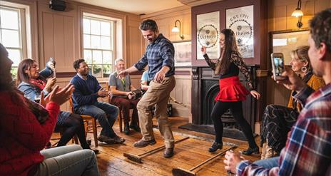 Dancing on the Belfast Trad Trail at McHughs bar