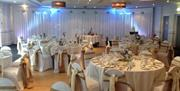 Image shows room set up for private function