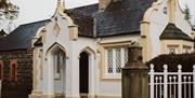 Exterior of Charles Lanyon Gate Lodge, Galgorm