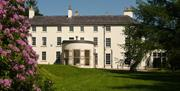 The front of Lissan House from the garden