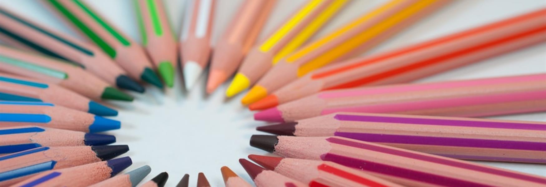 Coloured Pencils by Agence Olloweb on Unsplash - Visit Nottinghamshire