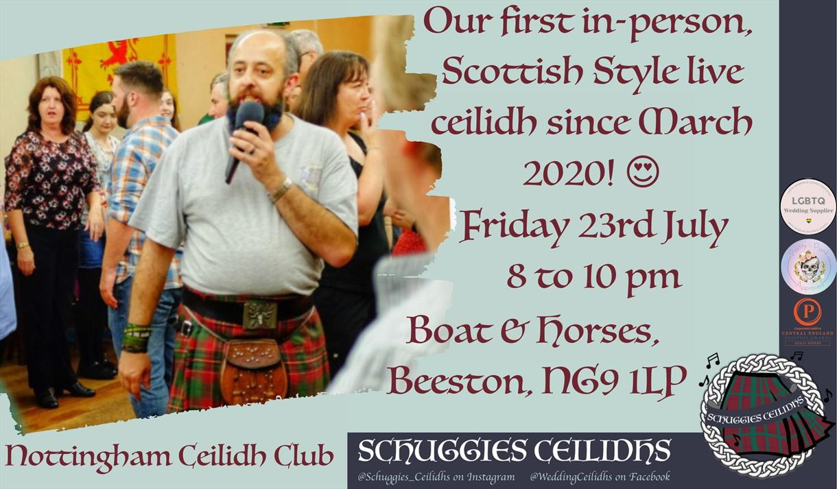 Live, in person, Scottish style Ceilidh Night- With a caller