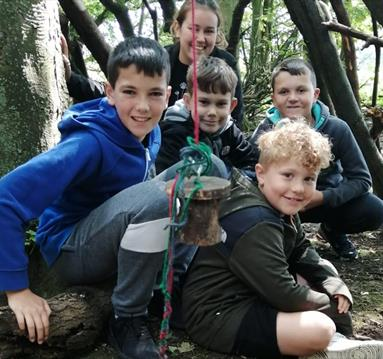Kids at Forestry School