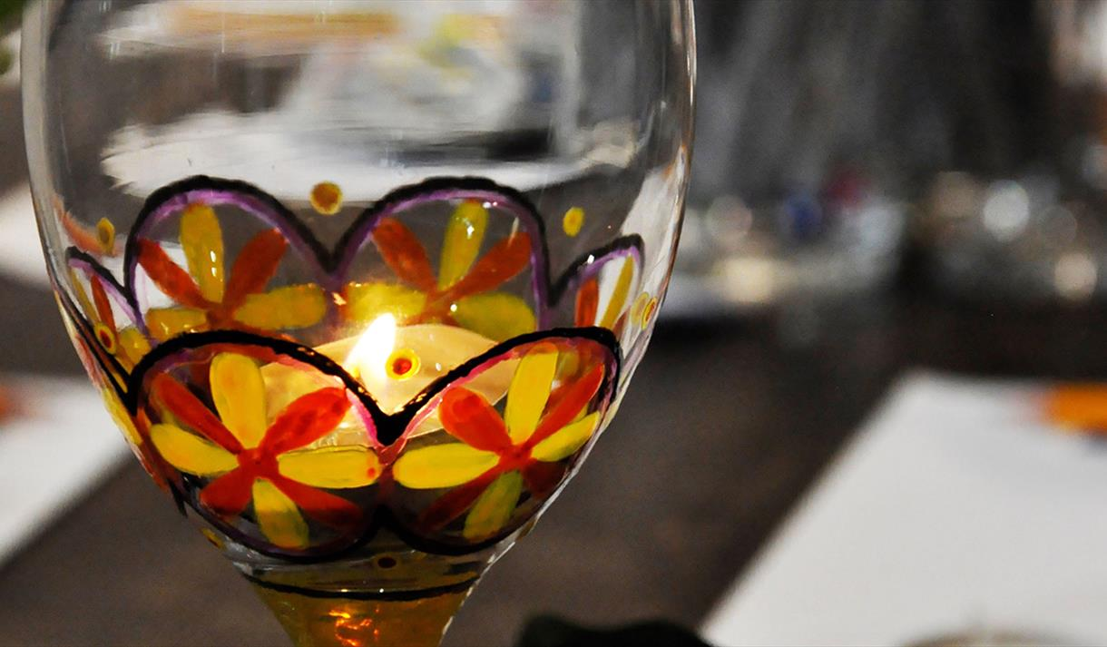 Glass painting crafternoon at debbie bryan