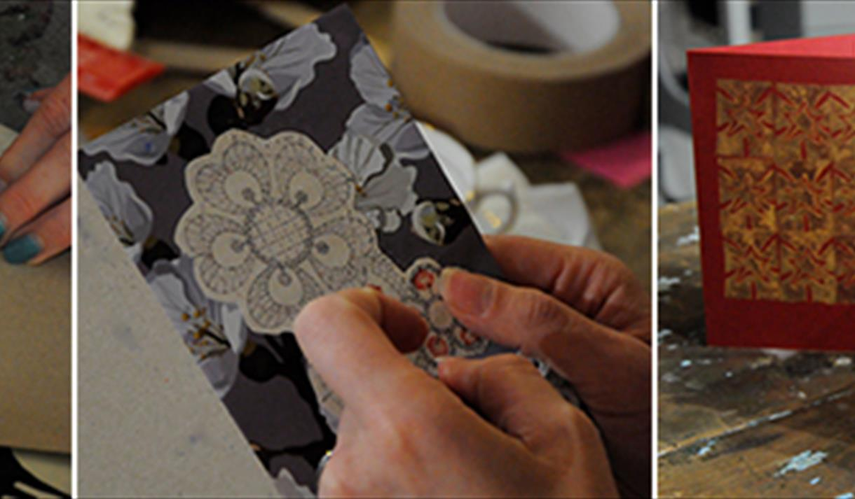 Linocut Composition and Mounted Collograph Crafternoon at Debbie Bryan