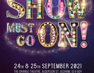 """Poster for """"the show must go on"""" dance show"""