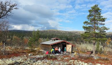 Matpause ved Pilgrimsbua, foto Ine Gulbæk