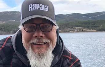 Fred A. Olsen,  blid fiskeguide i Rendalen