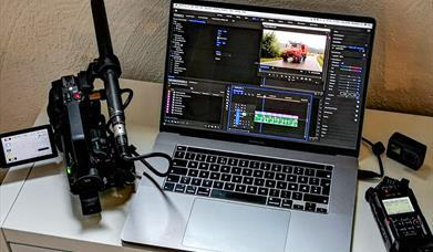 Videokamera, redigeringssuite, lydopptaker