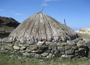 Iron age house at Bosta, Bernera, Lewis