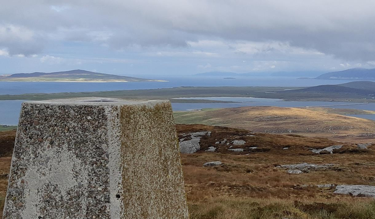 North Uist: Beinn Mhor - looking over to Berneray