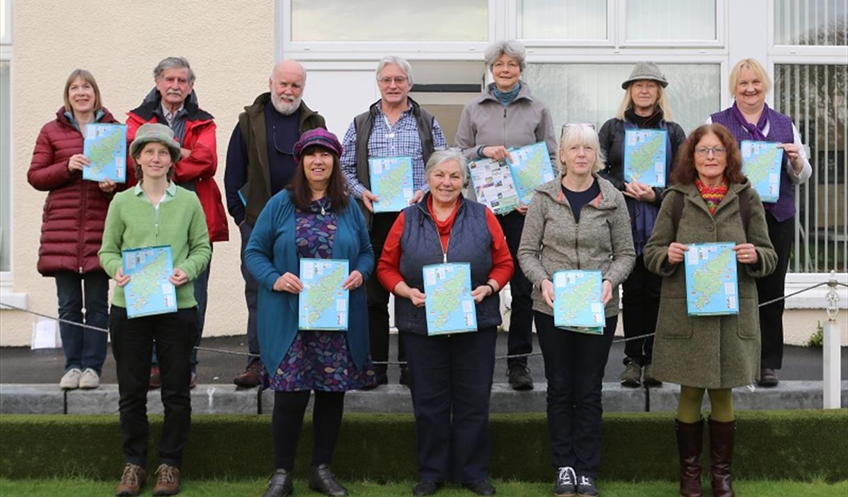 Group of tour guides in the Outer Hebrides