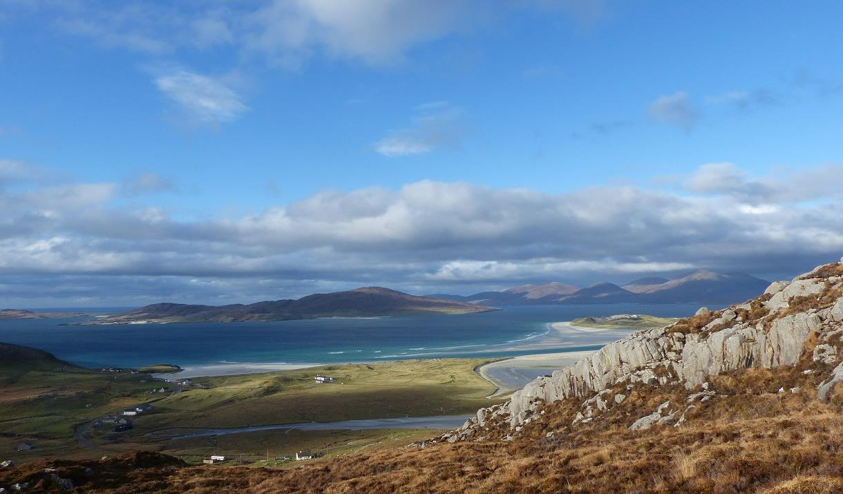 Harris: view of Seilebost from Hebridean Way
