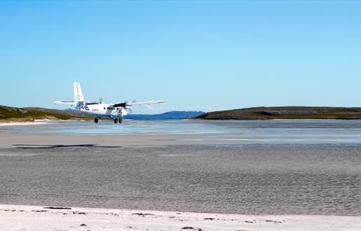 Flight Routes - Loganair - Barra to Glasgow