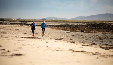Liniclate Beach and machair, benbecula with runners