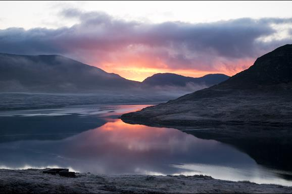 Sunrise at Loch Seaforth