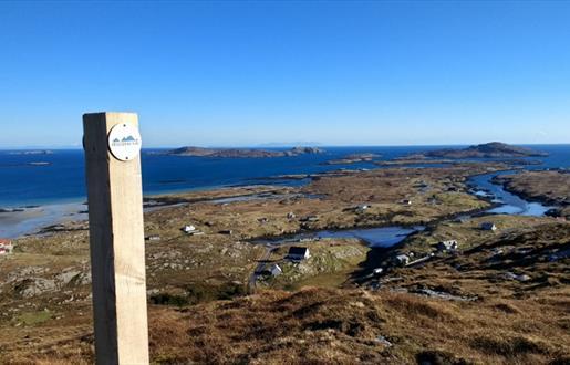 Barra: View from Beinn Bhaslain to Ardmhor