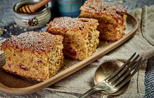 Honey, Oat and  Raspberry Slice  © Euan Anderson
