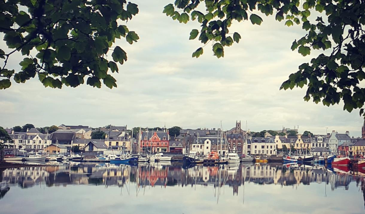 Stornoway Harbour from Lews Castle Grounds