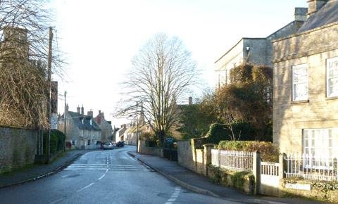 Bampton looking towards the town and church