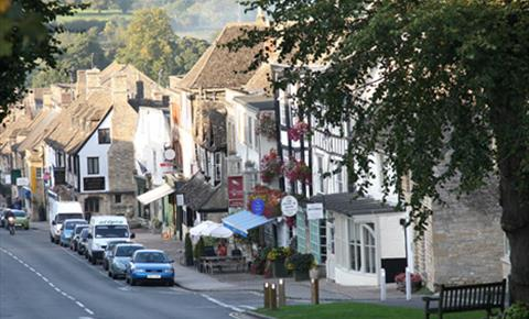 Looking down Burford's famous High Street