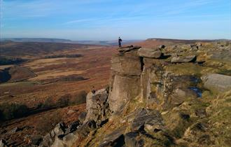 Visit Keira Knightley Rock on the Peak District's Stanage Edge