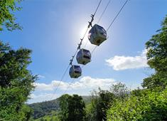 The Heights is rightly famous for its landmark cable car which provides a spectacular journey across the Derwent Valley.