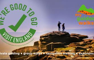my guided walks logo. peak district guided walks private guiding and navigation training www.myguidedwalks.co.uk