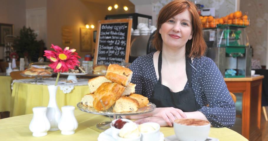 Picture of Esther at Victoria's Tea Room, Barnoldswick
